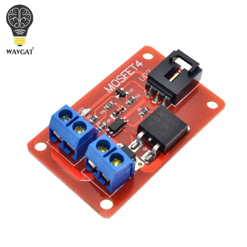 Bouton MOSFET 1 canal 1 Route WAVGAT IRF540 + Module de commutateur MOSFET pour Arduino