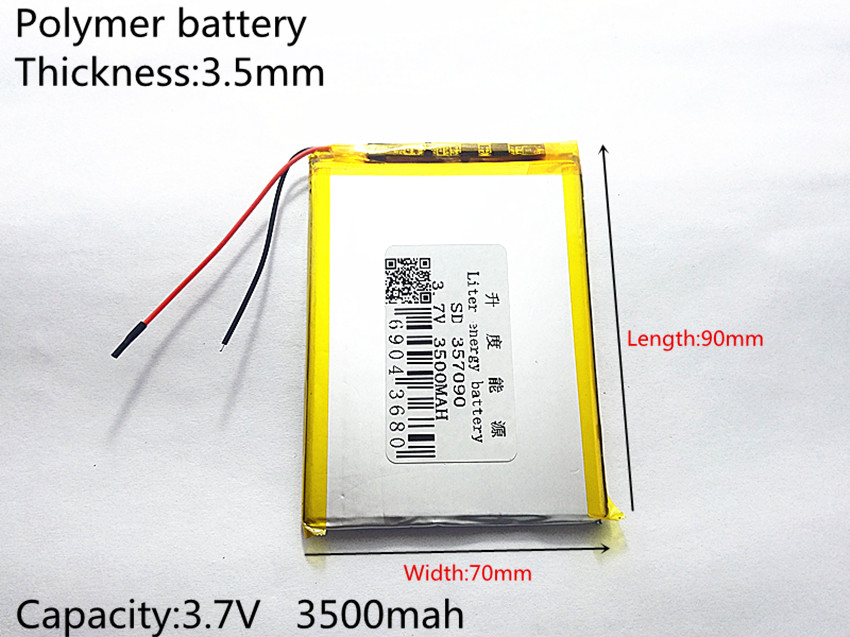 357090 3.7V 3500mAh Lithium polymer Battery with Protection Board For Tablet PC U25GT Free Shipping