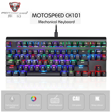 MOTOSPEED CK101 NKRO Mechanical Keyboard RGB Backlit 87 Keys LED Flashing Light Backlit Ergonomic Anti Ghosting