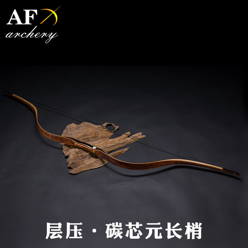 цены 20-50# Customized Archery Traditional YuanBow Rosewood Carbon Laminated Bow Recurve Bow Longbow for Outdoor Hunting Shooting