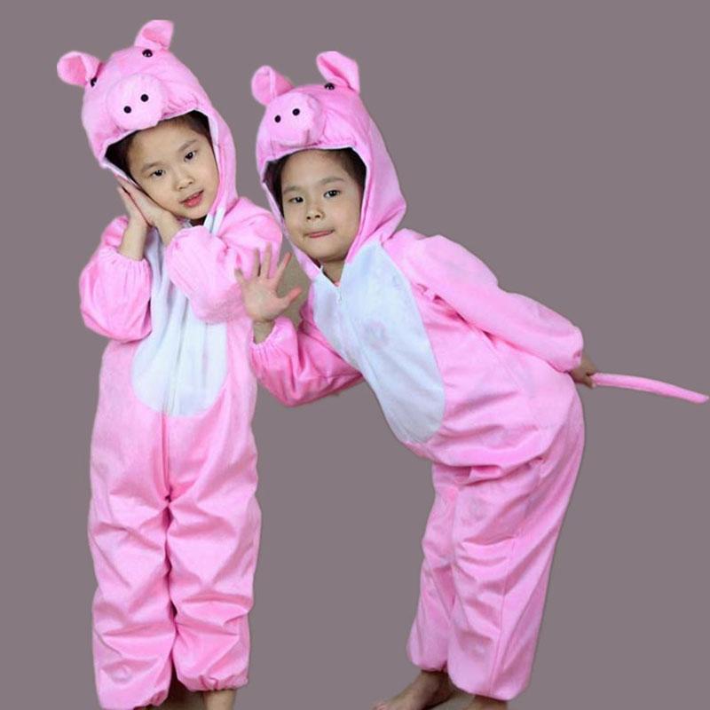 Umorden Uşaqları Uşaqlar Qız Qızı Qız Cizgi filmi Heyvan Çəhrayı Donuz Geyimləri Performans kostyumu Halloween Uşaqlar Günü geyimləri