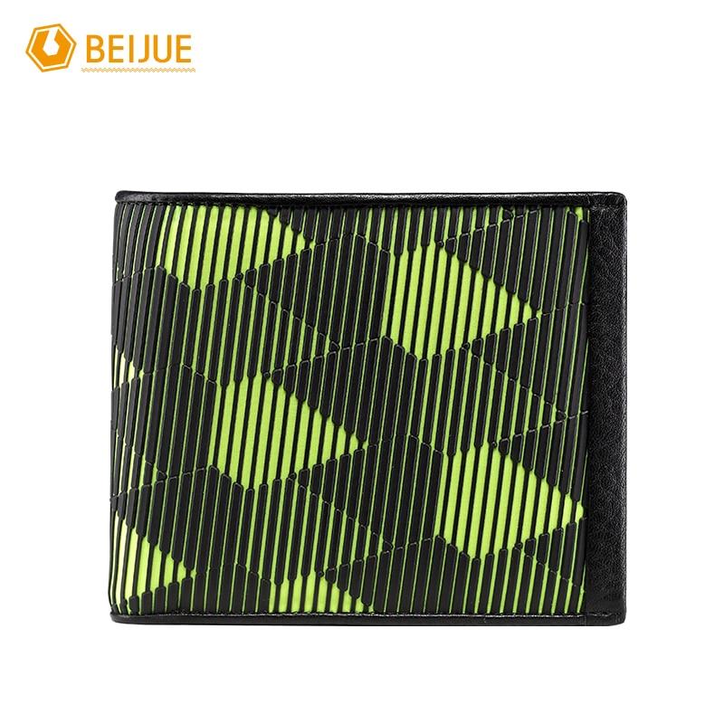BEIJUE New Arrival Minimalist Slim Thin Male Genuine Leather And Plastic Short font b Wallet b