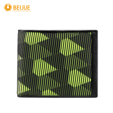 BEIJUE New Arrival Minimalist Slim Thin Male Genuine Leather And Plastic Short Wallet Vintage Fashion Brand Design Men Purse