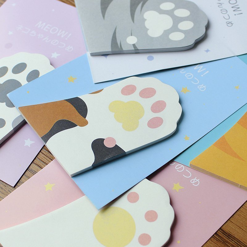 42 pcs Lot Cute cat sticky note Kawaii claws memo pad scrapbooking stickers journal diary Material School Office supplies FM107 in Memo Pads from Office School Supplies