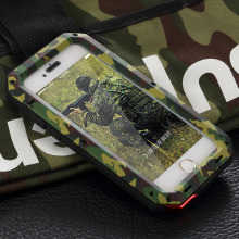 Metal Extreme Shockproof Army Camo Camouflage Military Heavy Duty Tempered Glass Cover Case for iPhone 4 4S SE 5 5S 5C 6 6S/Plus
