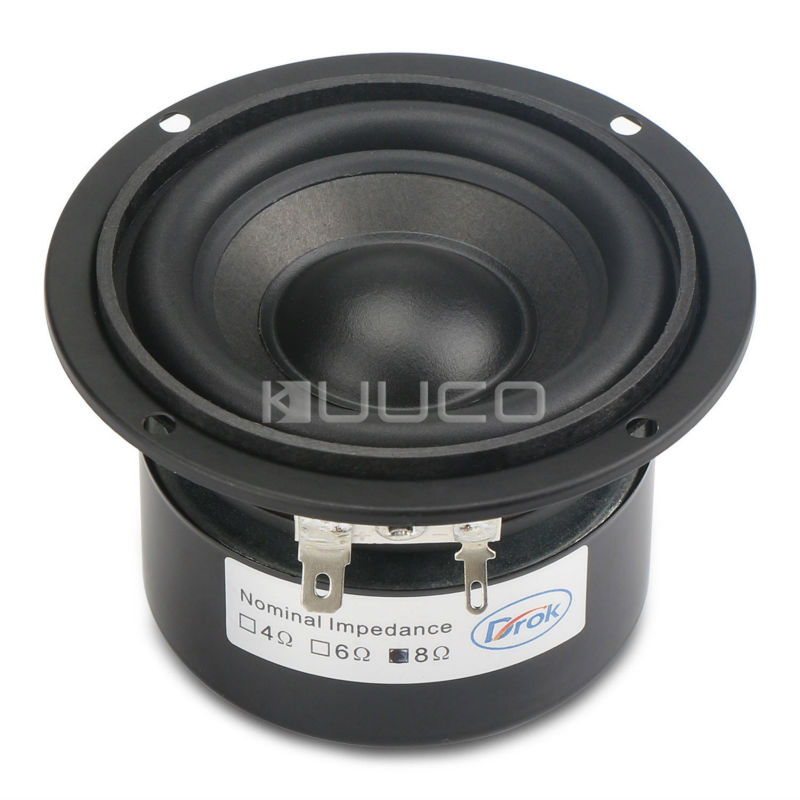 Round Speaker 89mm Audio Speaker 3 inches 8 ohms 25W Woofer Speaker Hi-Fi stereo Loudspeaker DIY Mini Stereo Box Accessories hi fi speaker