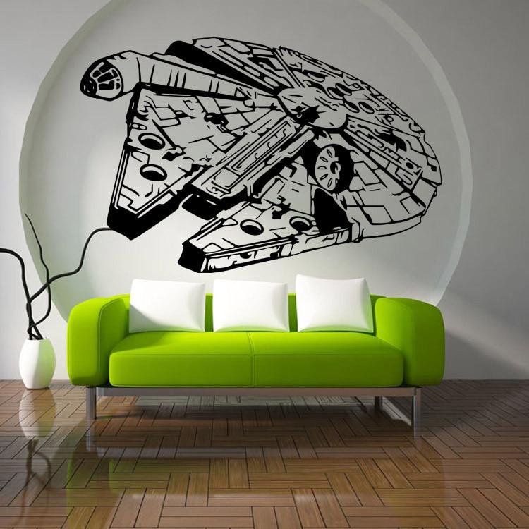 STAR WARS SHIP Decal Removable WALL STICKER Art Home Decor Battle Choose Size