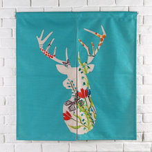 Taiwan Japan style Chinese Merry Christmas door curtaint hanging living room kitchen home decoration coffee bar elk gift deer