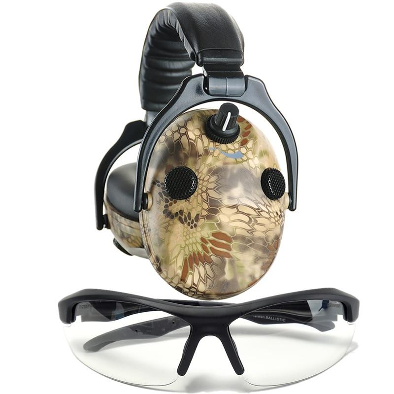 Электронные противошумные наушники шумоподавление Звукоизолированные наушники для охоты с стрельбой защитные очки безопасности