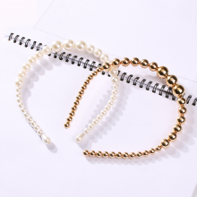OLOEY Charming Women Pearls Headband 2019 Fashion New Hairband For Female Wedding Party Bridal Hair Hoop Girls Accessories