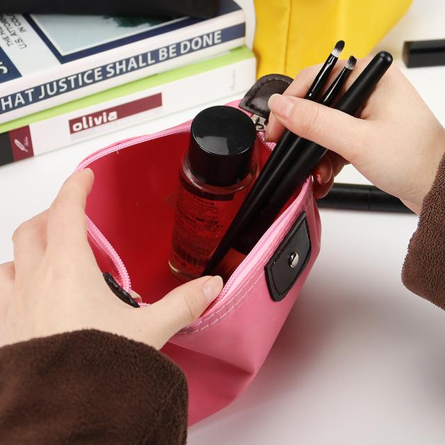 Women Cosmetic Bags Organizer Box Ladies Handbag Nylon Multifunction Makeup Bag