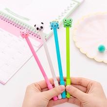 40 adet sevimli şişme hayvan nötr kalem 0.5 siyah öğrenci nötr kalem