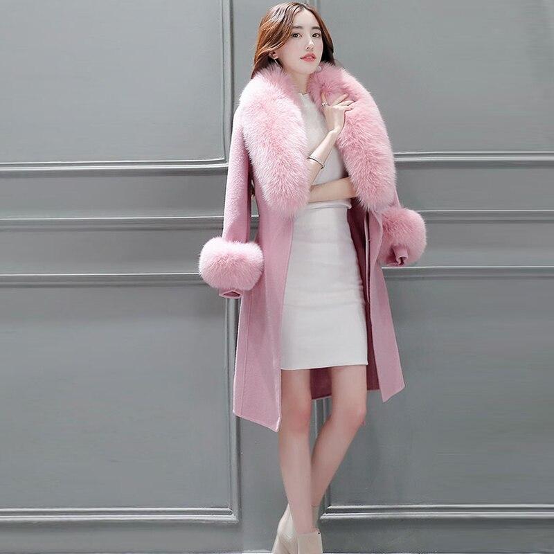 4de057d812 Slim De Mujer Otoño Exteriores Prendas Lana Largo Vestir Chaqueta Larga  Invierno Y Caqui Elegante Abrigo ...