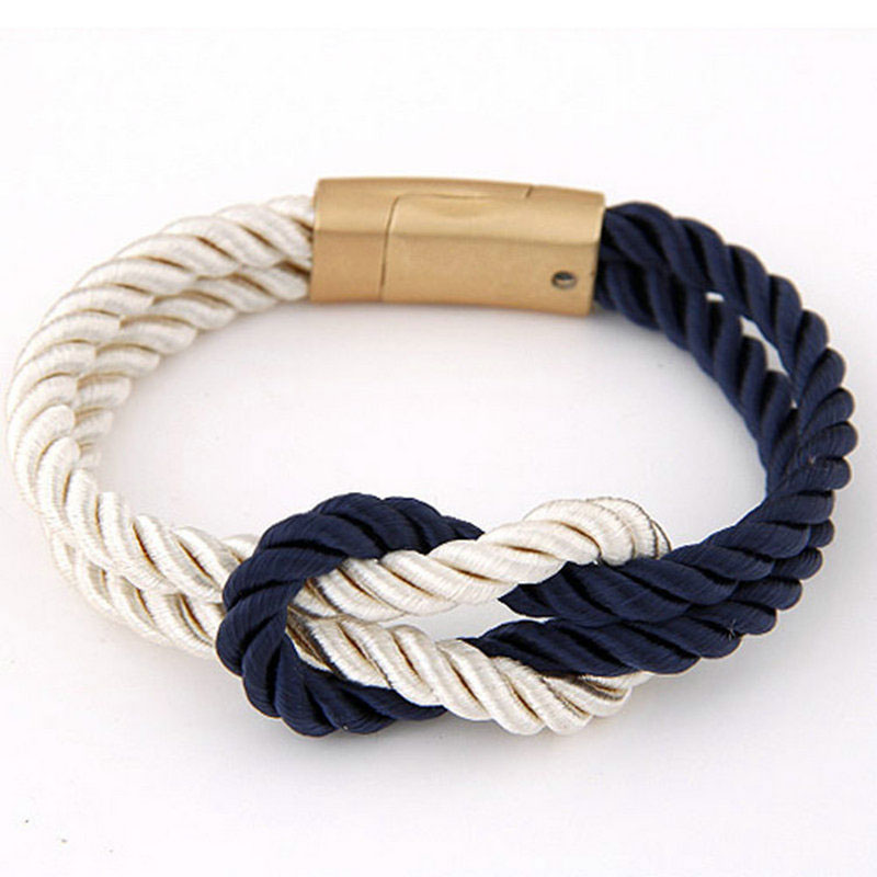 Vruće trendi modni pleteni konop lanac s magnetskom kopčom luk - Modni nakit - Foto 3