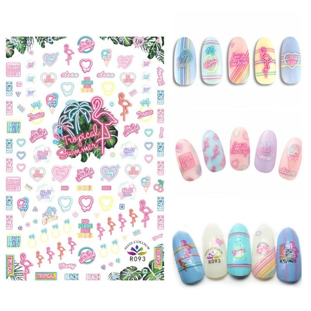 Aliexpress Buy Japanese Style Nail Art Water Decals Transfers