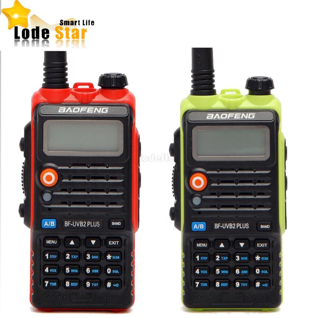 2PC Original Baofeng UV B2 Plus Walkie Talkie Dual Band VHF UHF 128CH Two way Radio