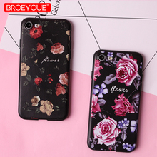 Flower Silicone Case For iPhone 8 7 6 6S Plus 5 5S SE Luxury Phone Case For iPhone X XR XS Max Rose Floral Cases Soft TPU Cover цена и фото