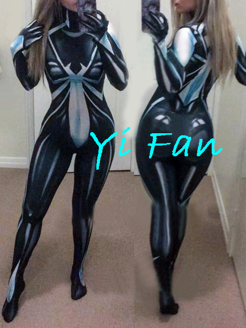 3D Printed New Arachne Deathweb Spider-Man Costume Zentai Cosplay Bodysuit Spiderman Superhero Catsuits Free Shipping