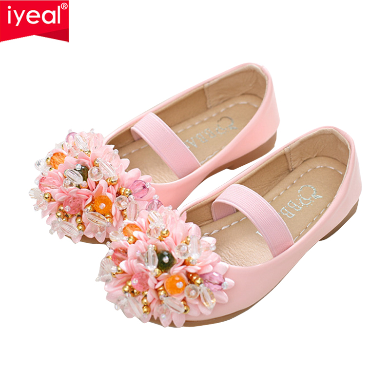 IYEAL Princess Girl Shoes Kids Girls Wedding Party Shoes Children Baby Girl  PU Leather Square Heel b6cbed8061dd