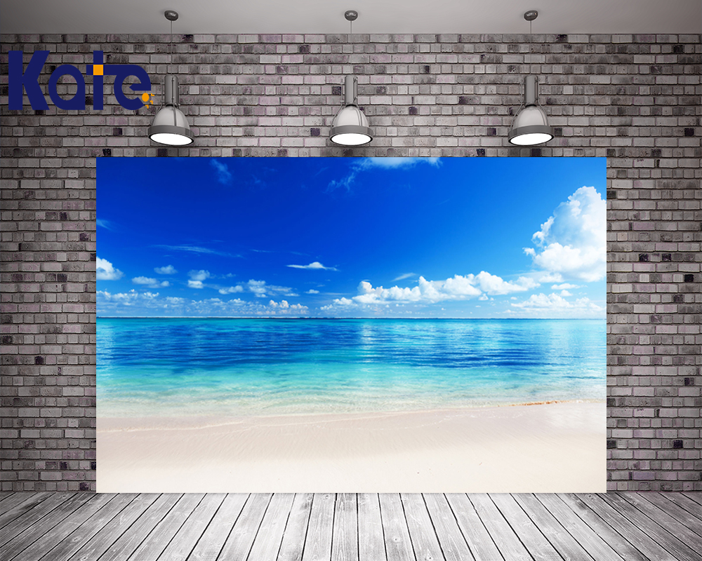 Kate Summer Sea Wedding Background Photography Blue Sky Photography Backdrops Photo Studio Seamless No Creases Backdrops 857 seamless nail wedding photo frame wall paintings hook the real invisible