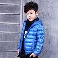 Pionee Crianças casacos de Inverno Regular de 90% de Pato Para Baixo meninos jaqueta de inverno 2016 Novo Ultra Light Crianças Brasão & Parkas