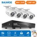 CAMERA SANNCE 8CH CCTV Sistema di Sicurezza HD 1080N AHD DVR 4PCS 720P IR esterno CCTV Sistema di Telecamere 8 Canali video di Sorveglianza Kit