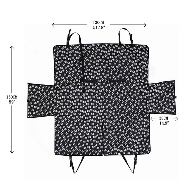 Pet carriers Fabric Paw pattern Car Pet Seat Cover Dog