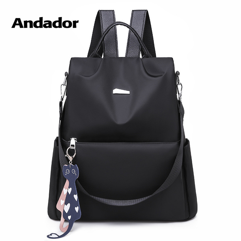 Anti-Theft-Backpack Travel-Shoulder-Bag Large-Capacity Casual Women's New-Fashion Oxford