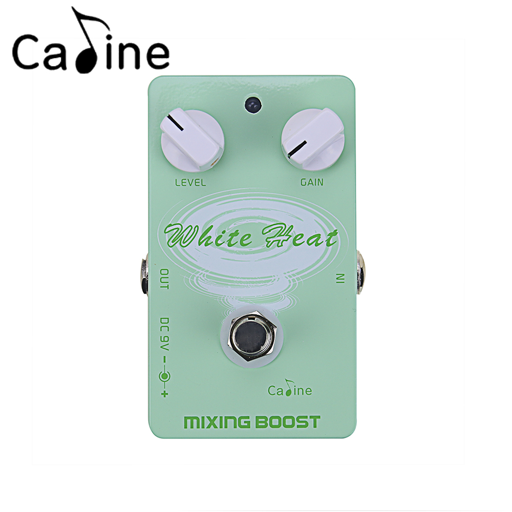 Caline CP-29 Guitar Effect Pedal Mixing Boost White Heat True Bypass Design s wear windshear sport bone conduction bluetooth earphones with mic