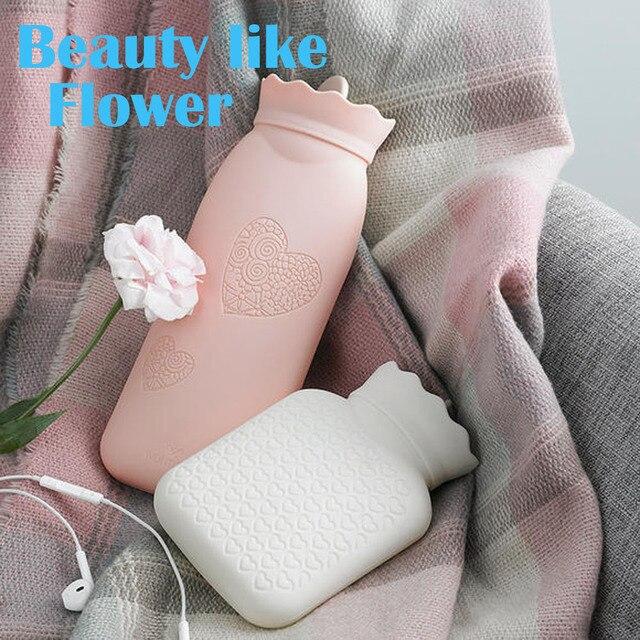 Креативный силиконовый микроволновый нагрев, сумка для горячей воды, портативная зимняя бутылка для теплой воды, Карманный ручной вамер с к...