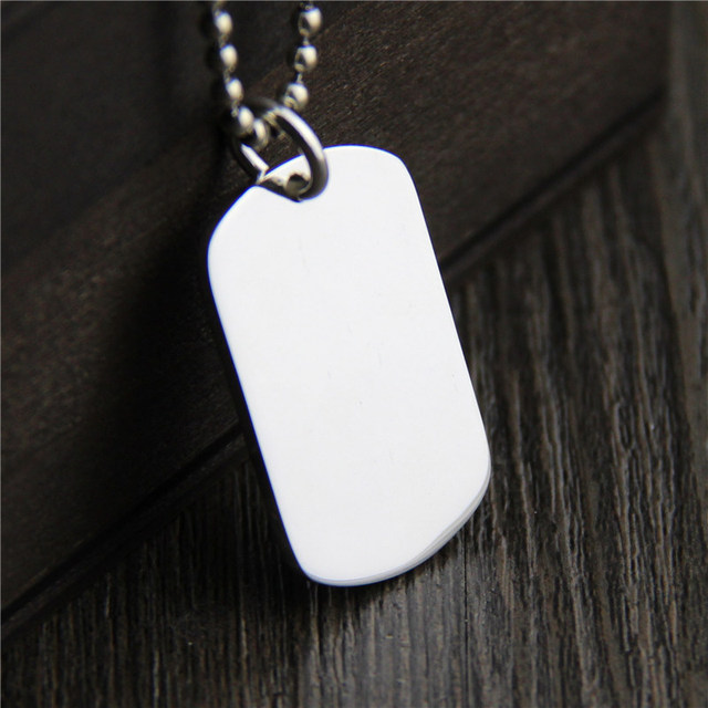 e9b398bcffba2 US $33.99  C&R Real 999 Sterling Silver pendant dog tag Necklace Men's and  Women's Simple Square Thai Silver Pendants Fine Jewelry -in Pendants from  ...
