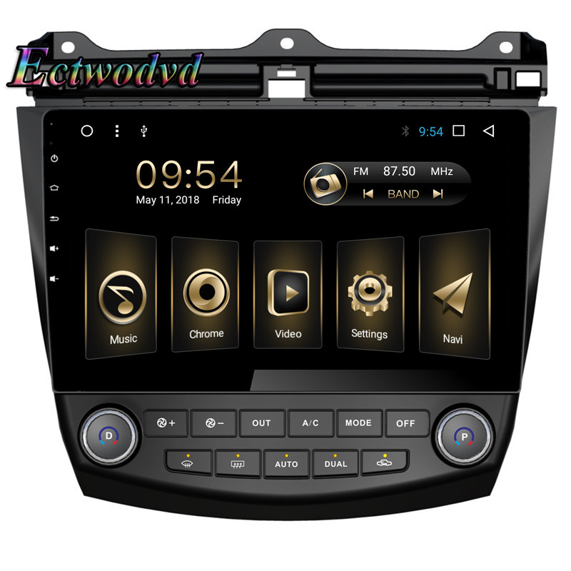 купить Ectwodvd Octa Core Android 8.1 2G Car Radio Stereo GPS Navigation for Honda Accord 7 2004 2005 2006 Car DVD Multimedia Player