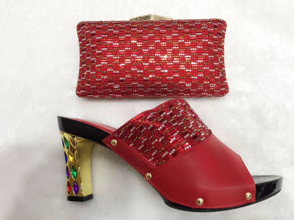 ФОТО Nigeria Wedding Sandal African Shoes And Bags To Match Set High Quality Italian Heels Shoes With Matching Bag Set TT12