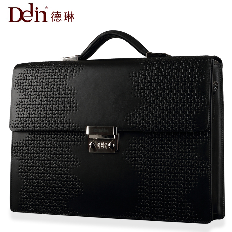 Delin Business Business Bag Password Lock Handbag Men's Briefcase with Cover Password Lock Leather Lawyer's File Bag frank buytendijk dealing with dilemmas where business analytics fall short