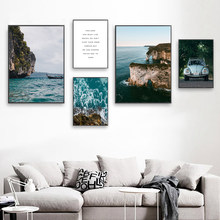 Sea Canvas Painting Landscape Picture Ocean Poster Nordic Art Print Living Room Pictures Scenery Nature Quote Unframed