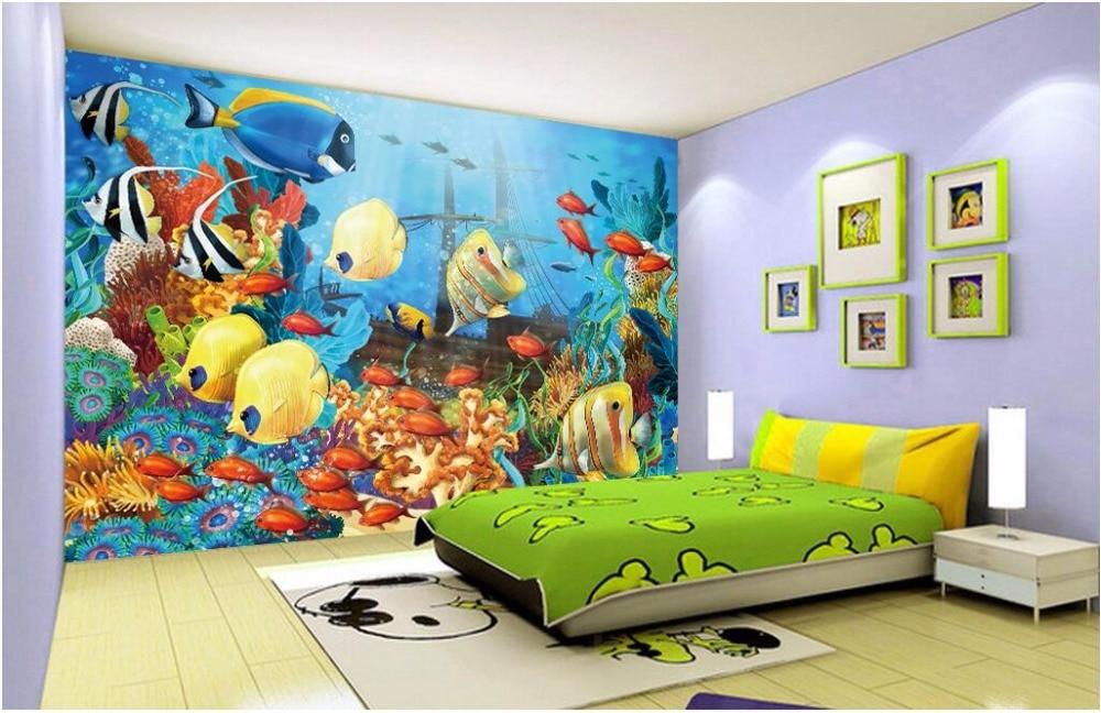 Us 1477 47 Offcustom Mural 3d Wallpaper Water World Aquarium Landscape Room Home Decor Painting 3d Wall Murals Wallpaper For Walls 3 D In