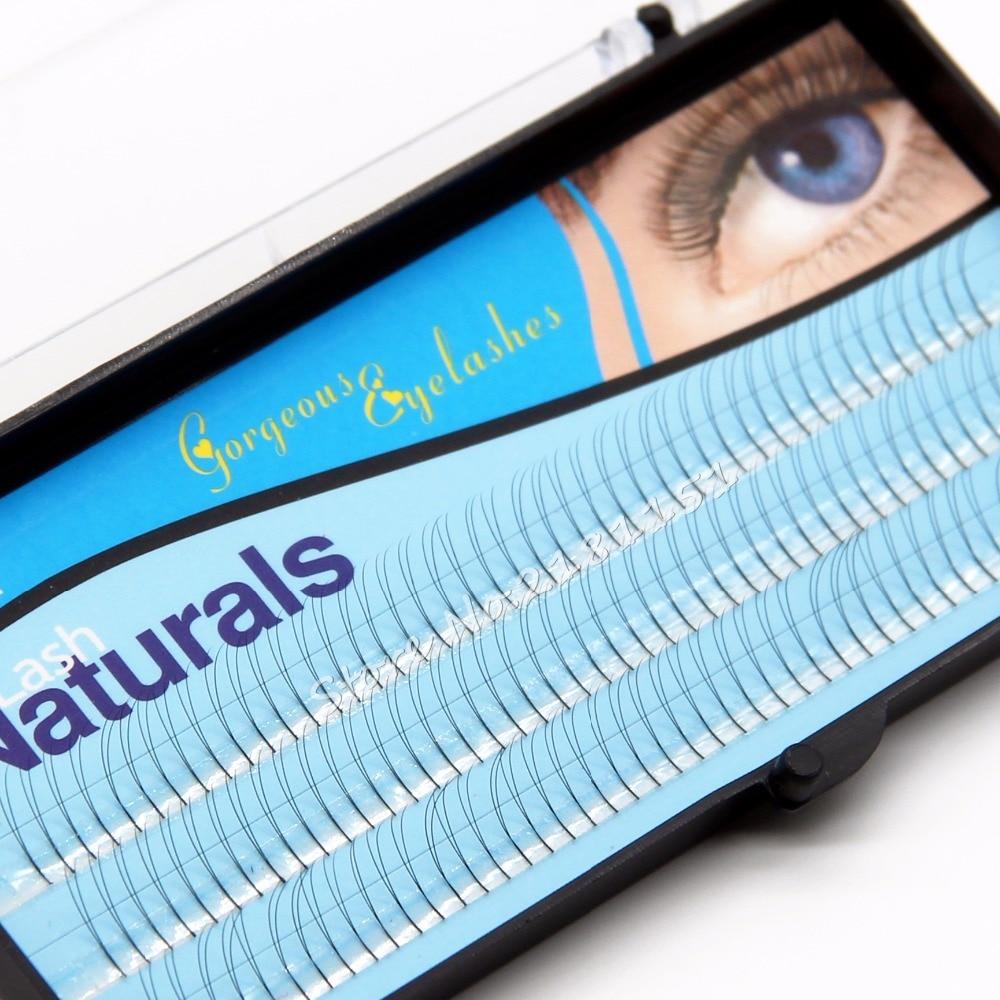 17ba11fc622 NAVINA 2 Flairs V Type Black Cluster Eyelashes 0.1mm C curl 8/10/12mm  Nature Soft False Eyelash Extension Lashes Makeup tool