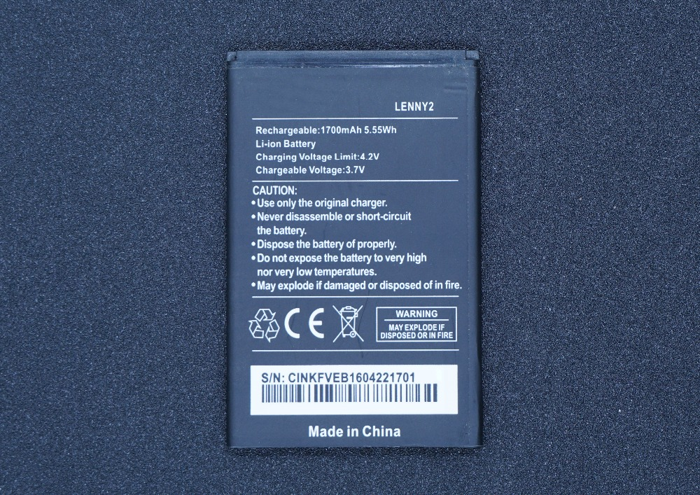 Lehons Smart-Phone Replacement-Battery For Wiko Lenny/2-lenny2/Lenny2/.. Arrivial 1700mah/5.55wh