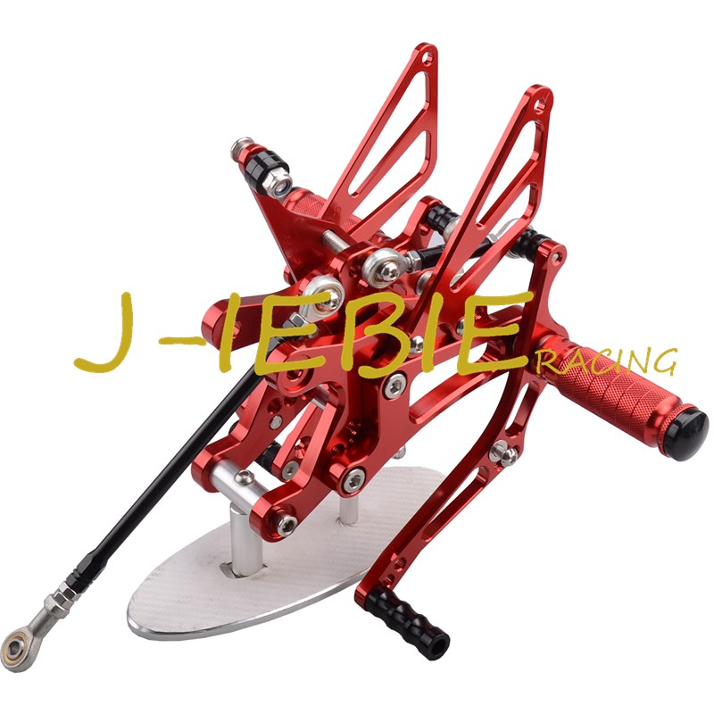 CNC Racing Rearset Adjustable Rear Sets Foot pegs Fit For Yamaha YZF R1 2004 2005 2006 RED cnc racing rearset adjustable rear sets foot pegs fit for ducati streetfighter 848 1098