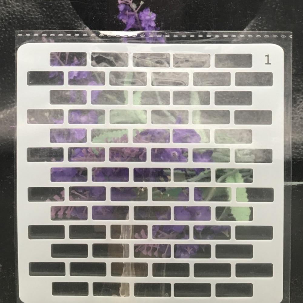 13cm Brick Wall DIY Layering Stencils  Painting Scrapbook Coloring Embossing Album Decorative Card Template