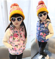 baby girls clothes child thickening clothing kids vest olete infantil casual hooded flowers print children vests