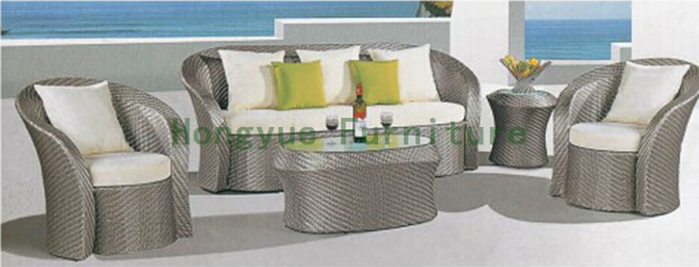 Rattan sofa furniture supplier,living room sofa with cushions 6 pcs half round rattan sofa set pastoralism home indoor outdoor rattan sofa for living room