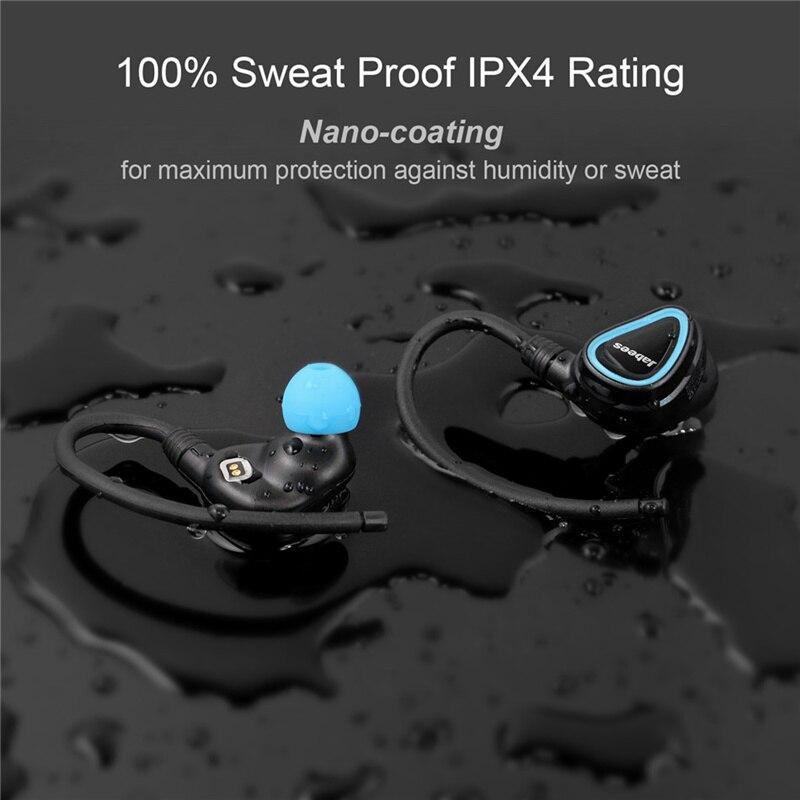 D'origine Sweatproof IPX4 Vrai Sans Fil Casque Bluetooth Stéréo Écouteurs Binaural Exercice Courir HIFI Bluetooth Casque