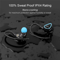 Original Sweatproof IPX4 True Wireless Headphones Bluetooth Stereo Earbuds Binaural Exercise Running HIFI Bluetooth Headset