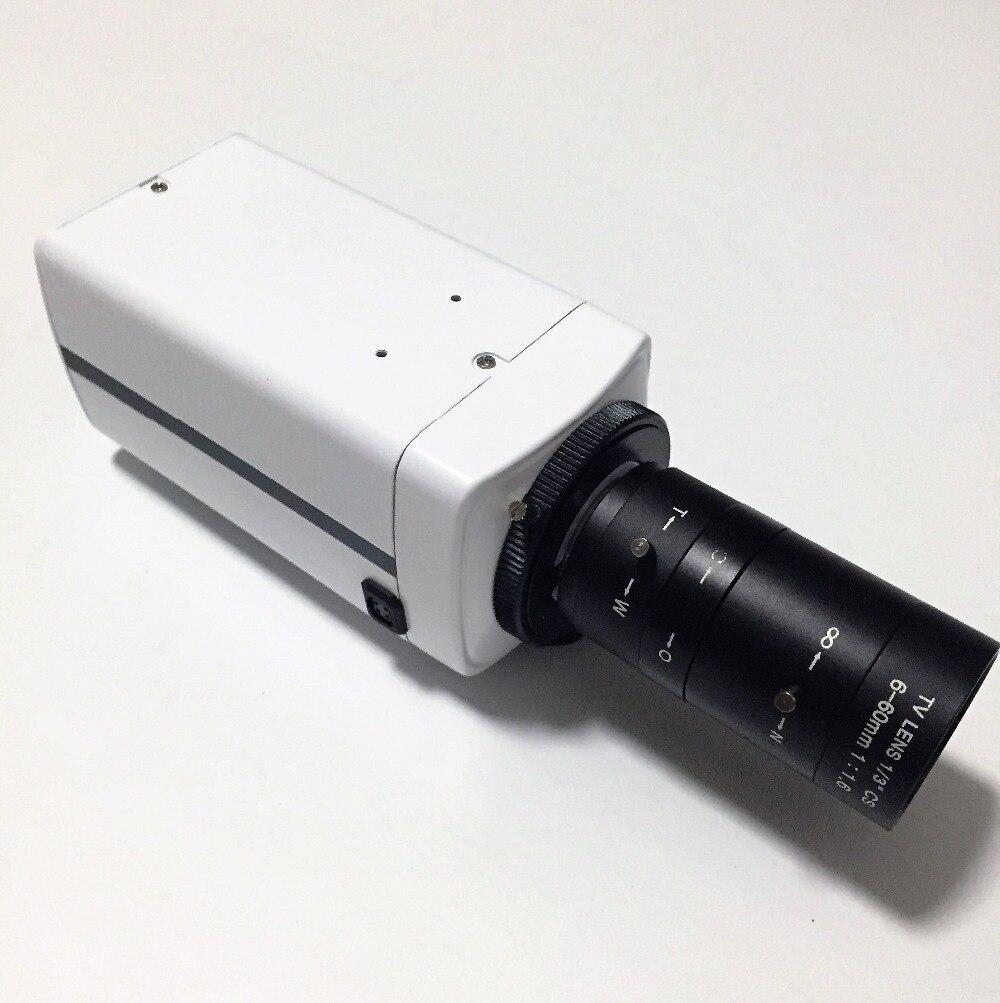 "Фотография 700TVL Analog CCTV Standard Cam 1/3"" Sony CCD Box Cameras 6-60mm Lens OSD 12VDC"