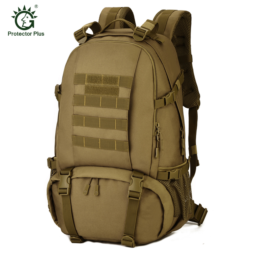 Protector Plus 40L Outdoor Camouflage Military Tactical Backpack Rucksacks Sports Laptop Bag for Camping Hiking Hunting Bags gun protector case backpack tactical handgun pistol carry bag wargame sports military hunting camping bag pouch backpack