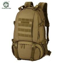 Protector Plus Camuflaje 40L Al Aire Libre Táctico Militar Mochila Mochilas Deportes Bolsa de Ordenador Portátil Bolsas de Excursión Que Acampa Caza