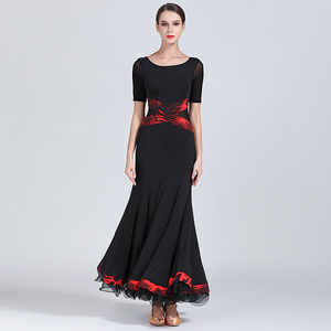 Image 3 - שחור שמלת נשפים אולם נשפים אישה בגדי ריקוד שמלת פלמנקו טנגו ואלס וינאי בנות פרינג ספרדית ללבוש שמלת ריקוד
