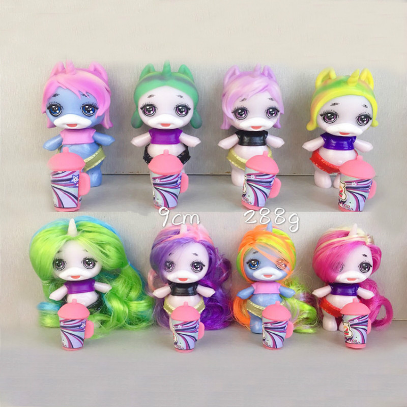 8pcs/set Poopsie Slime Surprise Unicorn Product Squeeze Sparkly Critters Cans Shaky Toys Gifts For Children Action Figures Toys & Hobbies