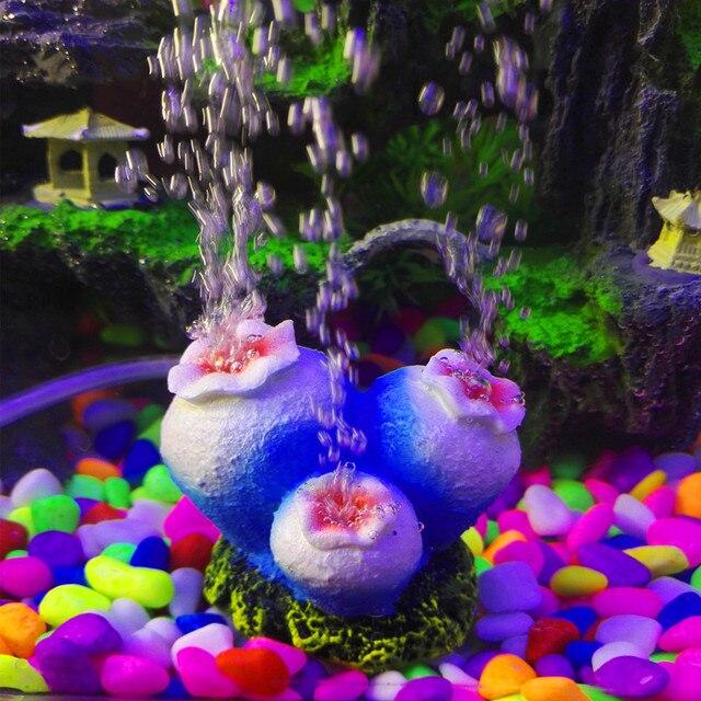 Flower Shape Aquarium Decoration Ornament Oxygen Pump Air Bubble Stone Drive Fish Tank Toy